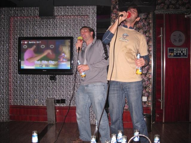 Josh and I singing My Girl!